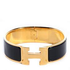 hermes bracelet images Hermes yellow gold enamel wide clic clac h bracelet hermes jpg