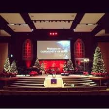 Church Stage Christmas Decorations Littered W Light Stage Designs Pinterest Lights Churches