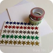 easy washi tape christmas cards being mrs c