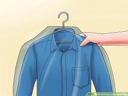 Kentucky how to fold a shirt for travel images How to pack a garment bag with pictures wikihow jpg