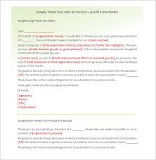 donor thank you letter u2013 10 free sample example format download