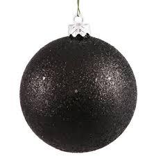 black ornaments happy holidays