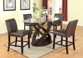 counter high dining room sets roundhill furniture cicicol 5 piece counter height dining set