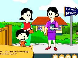 Film Kartun Anak Sekolah | belajar mandiri di sekolah bersama andi kartun anak islami lucu