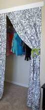 Curtain As Closet Door 10 Minute Diy Closet Doors To Curtain Project The Best Of Life
