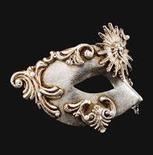 silver masquerade masks colombina barocco sole silver masquerade mask vivo masks