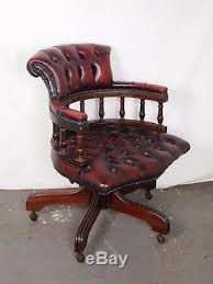 Red Leather Office Chair An Antique Style Red Leather Chesterfield Swivel Captains Office Chair