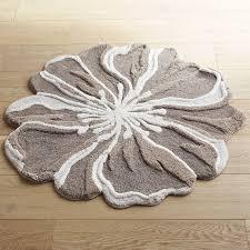 Crochet Bathroom Rug by Flower Shaped 3 U0027 Round Gray Bath Rug Pier 1 Imports