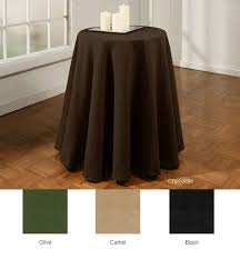 What Size Tablecloth For 60 Inch Round Table The Dining Room 70 Round White Bistro Patio Table Tablecloth Gone
