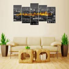 thailand home decor 5 panels canvas print thailand golden temple painting on canvas