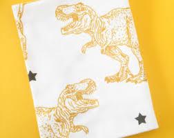 dinosaur crib sheet etsy