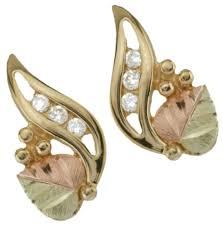 10k earrings black gold earrings 10k yellow gold 12k gold 12k