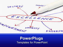 powerpoint template excellence mind map honesty empowerment