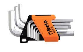 beta tools short hexagon allen key set wrenches 9 pc metric stuby