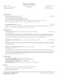 How To Make A Good Resume For Students Example Of Resume For College Student Resume Example And Free