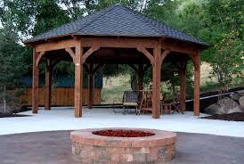 14x14 Outdoor Gazebo by 55 Best Backyard Retreats With Fire Pits Chimineas Fire Pots