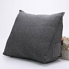bed rest pillow removable cover amazon com vercart sofa bed large filled triangular wedge cushion