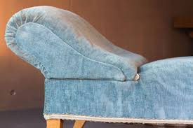 Antique Chaise Lounge Sofa by Vintage Chaise Lounge With Sky Blue Velvet Upholstery For Sale At