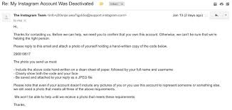 email instagram support how i reactivated my disabled instagram account in 3 days