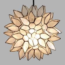 Capiz Light Pendant Small Capiz Lotus Pendant Shade World Market