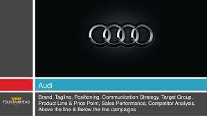 audi tagline automobile industry in india