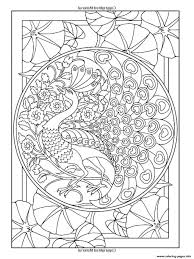 art nouveau style peacock coloring pages printable