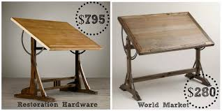 antique drafting table desks arhaus desks distressed home office furniture drafting