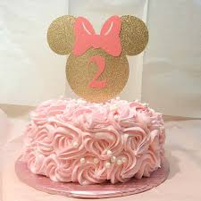 minnie mouse cake gold and pink minnie mouse cake topper minnie mouse gold