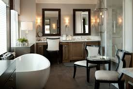Bathroom Sconce Height Counter Stool Height Bathroom Transitional With Bathtub Chandelier