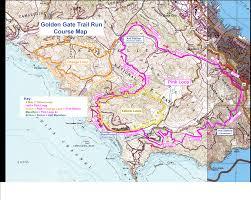 San Francisco Elevation Map Golden Gate Trail Run