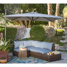 Coolaroo Patio Umbrella by Coral Coast 8 5 Ft Square Offset Patio Umbrella From Hayneedle