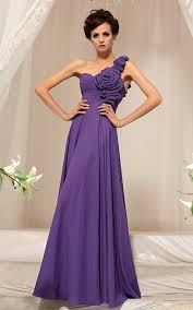 chiffon one shoulder ruched flower purple prom dresses 2013 prom