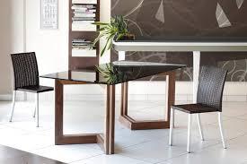 tavoli per sale da pranzo tavolo in legno con piano in vetro per sale da pranzo idfdesign