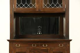 antique hutch with glass doors sold oak 1900 antique pantry cabinet sideboard u0026 china leaded