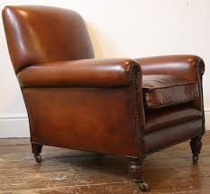Leather Club Chair Reupholstered Leather Club Chair Antique Leather Chair English