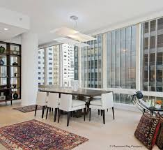 Rug In Dining Room Antique Tribal Rugs In A Modern Condo Claremont Rug Company
