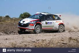 peugeot 207 rally istanbul turkey july 26 2015 hakki agaoglu drives peugeot 207