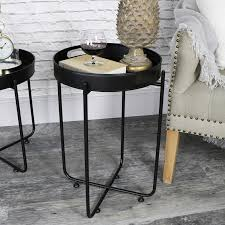 Metal Tray Coffee Table Black Butlers Serving Tray Table Melody Maison