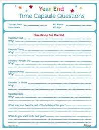 time capsule idea create one for each person do this year then