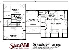 grandview floor plan stonemill log u0026 timber homes