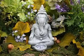 beautiful lord ganesh statue zen outdoor garden