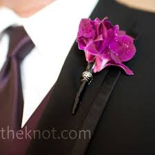 Orchid Boutonniere Magenta Orchid Boutonniere