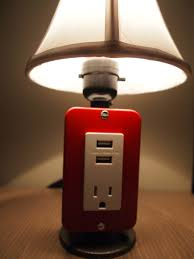 gadget charger table lamps for a true geek u0027s living quarters