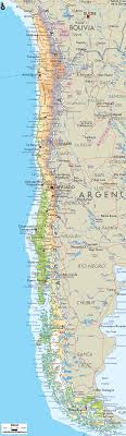 chile physical map physical map of chile ezilon maps