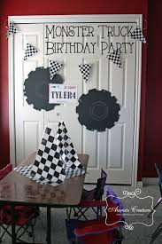 monster truck birthday party diy home decor and crafts