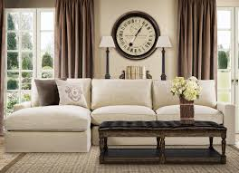 casual beige belgian linen upholstered sectional sofa beach
