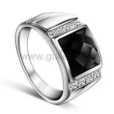 custom wedding rings mens onyx silver wedding ring with custom engraving personalized