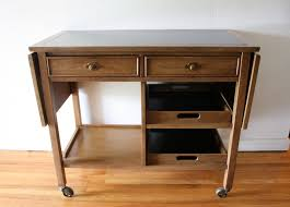 Broyhill Computer Desk Mid Century Modern Serving Bar Cart From Broyhill Premier
