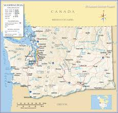 Border Map Of Usa by Reference Map Of State Of Washington Usa Nations Online Project