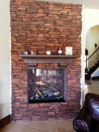 artificial fireplace faux stones home fireplaces firepits best